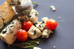 Roquefort cheese composition Royalty Free Stock Image