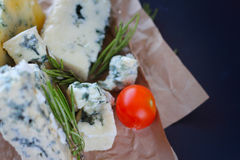 Roquefort cheese composition Stock Photography