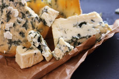 Roquefort cheese composition Royalty Free Stock Photos