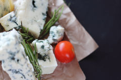 Roquefort cheese composition Stock Photo