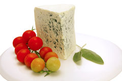Roquefort cheese isolated Stock Images