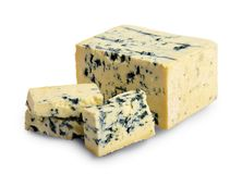 Roquefort cheese with mildew royalty free stock photo