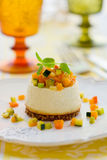 Roquefort cheesecake with vegetables Stock Photo
