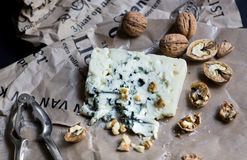 Roquefort with walnuts Royalty Free Stock Image