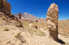 Roques de García, famous volcanic landscape in Teide National Park, Tenerife, Canary islands, Spain. Stock Images