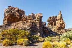 Roques De García, parque nacional de Teide, Tenerife Imagens de Stock