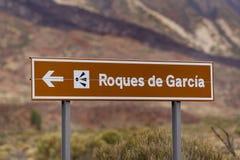 Roques de Garcia σημάδι Στοκ Φωτογραφίες
