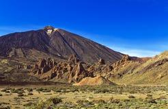 Roques de Garcia below Teide Volcano, Tenerife Royalty Free Stock Image