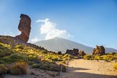 Roques de Garcia and El Teide Volcano, Spain Royalty Free Stock Photography