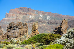 Roques de Garcia and El Teide Volcano, Spain Royalty Free Stock Images