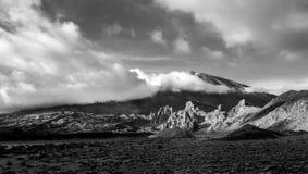 Roques DE Garcia en zet Teide, Tenerife op Royalty-vrije Stock Foto's