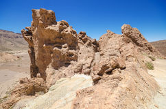 Roques de Garcia, famous volcanic landscape in Teide National Park, Tenerife, Canary islands, Spain. Royalty Free Stock Photo