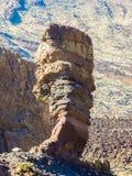Roques de Garcia am Fuß von Teide auf Teneriffa stockbild