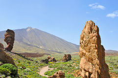 Roques De Garcia In Teide National Park, Tenerife Royalty Free Stock Images