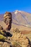 Roques de Garcia och Teide nationalpark, Tenerife Royaltyfri Bild