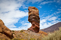 Roques de Garcia with Teide volcano, Tenerife, Spain Royalty Free Stock Photo