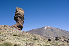 Roques de Garcia und teide Stockbild