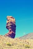 Roques de Garcia, unique mountain. Roque Cinchado in El Teide National park. Stock Images