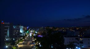 Roquetas de Mar τη νύχτα στοκ φωτογραφία με δικαίωμα ελεύθερης χρήσης