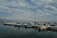 Roquetas De Mar Fishing Harbour Stock Photo