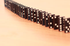 Ror av domino Arkivbilder