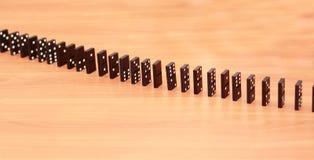 Ror av domino Arkivbild