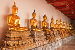 Ror of Buddha statue in thai temple Stock Photo