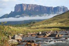Roraima山的看法在委内瑞拉 免版税库存照片