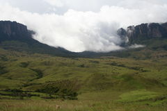 Roraima and Kukenan tepuis Stock Images