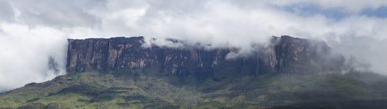 Roraima Tepui或桌山在Canaima,委内瑞拉 库存图片