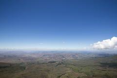 从Roraima tepui的看法在Kukenan,委内瑞拉 库存照片