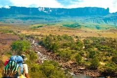 Roraima Tepui, Gran Sabana,委内瑞拉 免版税库存图片