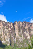 Roraima wall with moon Stock Images