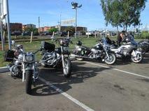 Roraimamotoclube a rendu visite au club de Moteros Images libres de droits