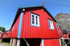Rorbu cabin of A in Lofoten Stock Images