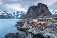 Rorbu cottages, Lofoten, Norway Stock Photo