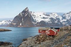 Rorbu cottages, Lofoten, Norway Royalty Free Stock Images