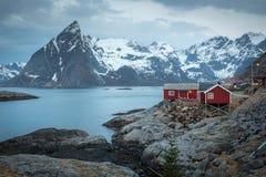 Rorbu cottages, Lofoten, Norway Stock Image