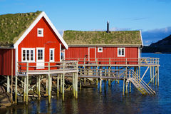 Rorbu huts in Reine Stock Photography