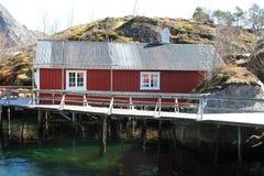 Rorbu in Nusfjord Royalty Free Stock Image