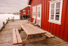 Rorbuer στα νησιά Lofoten Στοκ εικόνες με δικαίωμα ελεύθερης χρήσης