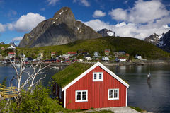 Rorbuer on Lofoten Stock Photography