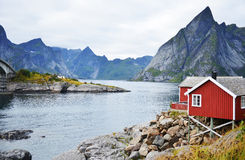 Rorbuer on Lofoten, Norwary Stock Photos