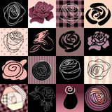 Rores set Royalty Free Stock Photos