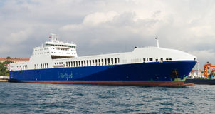 Roro Ship Stock Photo