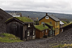 Roros. Old mining town in Norway. and the old copper mines are placed on the UNESCO World Heritage Stock Image