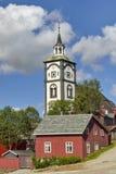 Roros een herritagestad in noorden-Noorwegen stock foto
