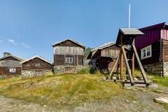 Roros een herritagestad in noorden-Noorwegen Stock Afbeelding