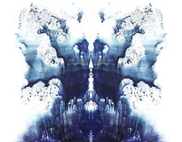 Rorschach. Blue watercolor. Rorschach. Abstraction background. Blue watercolor royalty free illustration