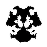 Rorschach inkblot Royalty Free Stock Images